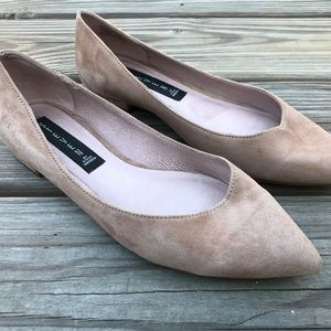 Steve Madden Women Flat Shoe Lavender Suede Leathe